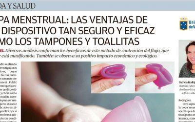 Prof. Patricia Rodríguez habla en el Mercurio de Valparaíso sobre la copa menstrual: las ventajas de un dispositivo tan seguro y eficaz como los tampones y toallitas