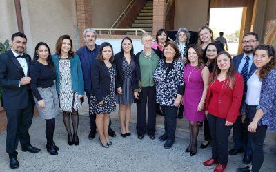 """Con la visita de la presidenta de la Confederación Internacional de Matronas, se llevó a cabo la jornada """"Relevando la Matronería"""" en el Campus San Felipe."""