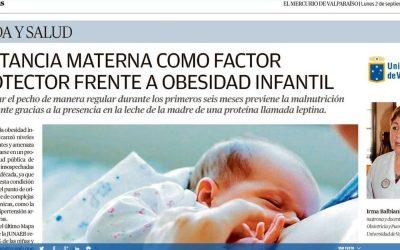 Prof. Irma Balbiani habla en el Mercurio de Valparaíso sobre la Lactancia Materna como factor protector frente a obesidad infantil