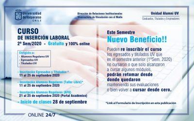 CURSO DE INSERCIÓN LABORAL – 2º Semestre 2020